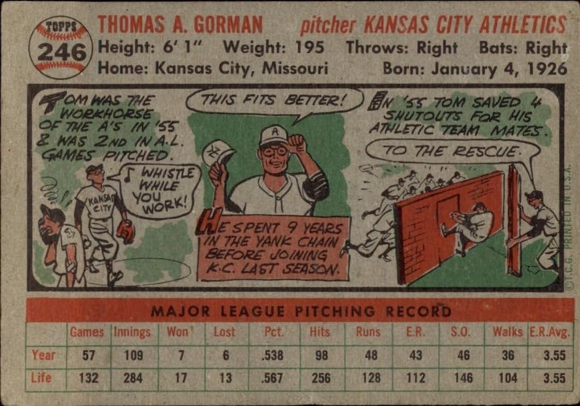 1956-TOPPS-BASEBALL-ASSORTED-SINGLES-U-PICK-242-319 thumbnail 25