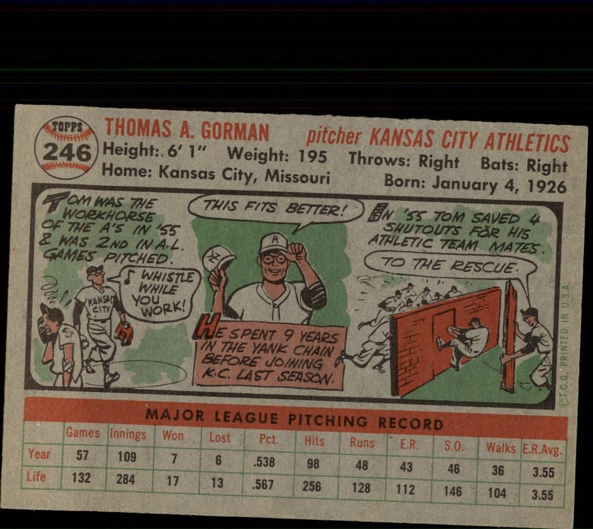 1956-TOPPS-BASEBALL-ASSORTED-SINGLES-U-PICK-242-319 thumbnail 27