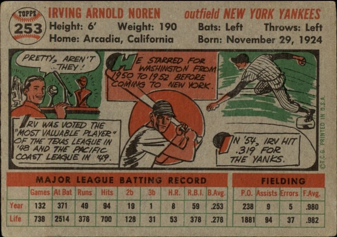 1956-TOPPS-BASEBALL-ASSORTED-SINGLES-U-PICK-242-319 thumbnail 57