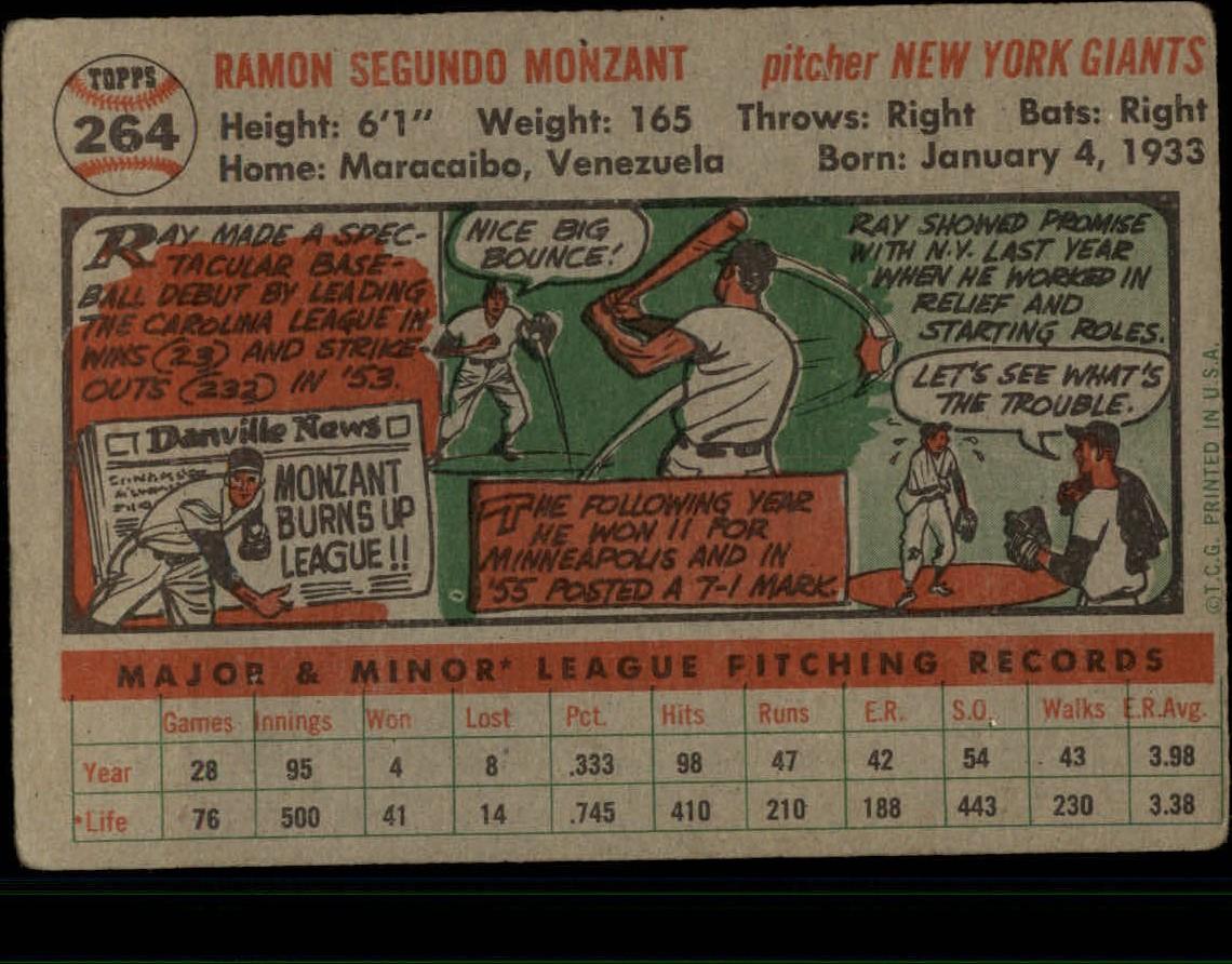 1956-TOPPS-BASEBALL-ASSORTED-SINGLES-U-PICK-242-319 thumbnail 100