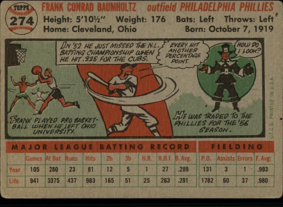 1956-TOPPS-BASEBALL-ASSORTED-SINGLES-U-PICK-242-319 thumbnail 130