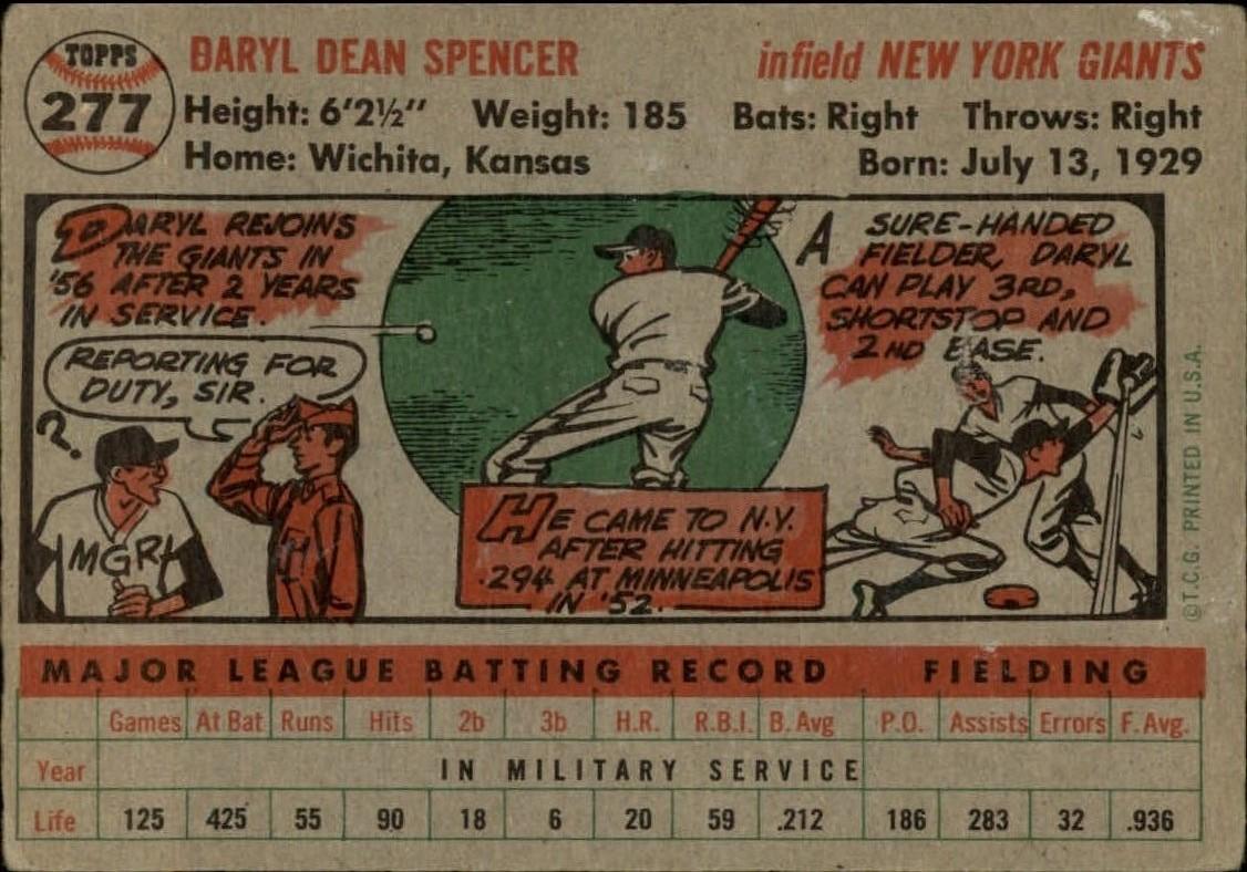 1956-TOPPS-BASEBALL-ASSORTED-SINGLES-U-PICK-242-319 thumbnail 138
