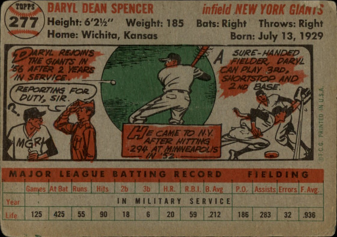 1956-TOPPS-BASEBALL-ASSORTED-SINGLES-U-PICK-242-319 thumbnail 140