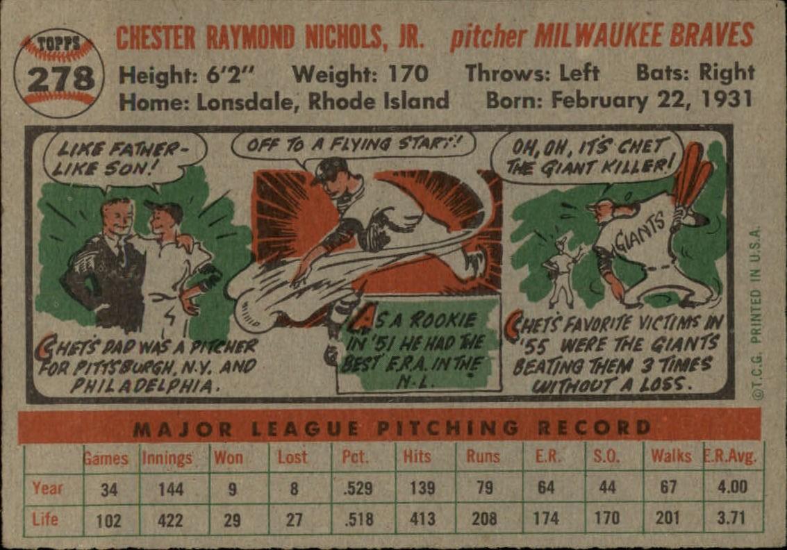 1956-TOPPS-BASEBALL-ASSORTED-SINGLES-U-PICK-242-319 thumbnail 144