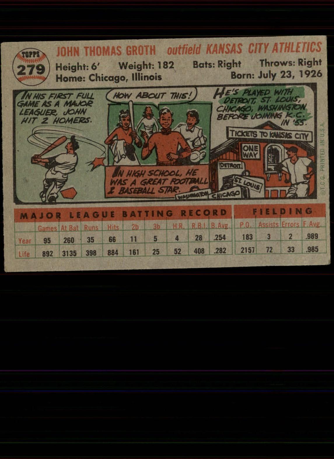 1956-TOPPS-BASEBALL-ASSORTED-SINGLES-U-PICK-242-319 thumbnail 148