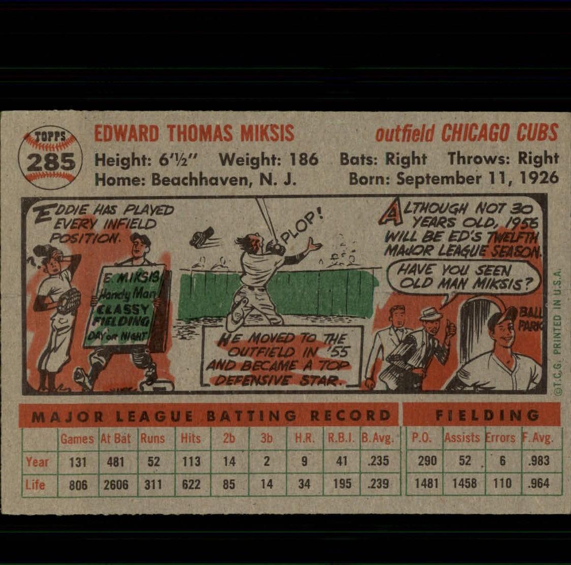 1956-TOPPS-BASEBALL-ASSORTED-SINGLES-U-PICK-242-319 thumbnail 160