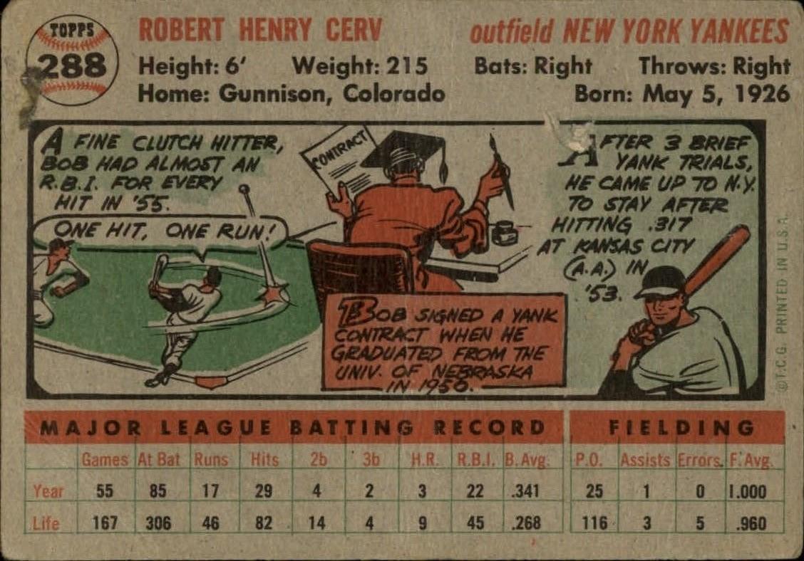 1956-TOPPS-BASEBALL-ASSORTED-SINGLES-U-PICK-242-319 thumbnail 166