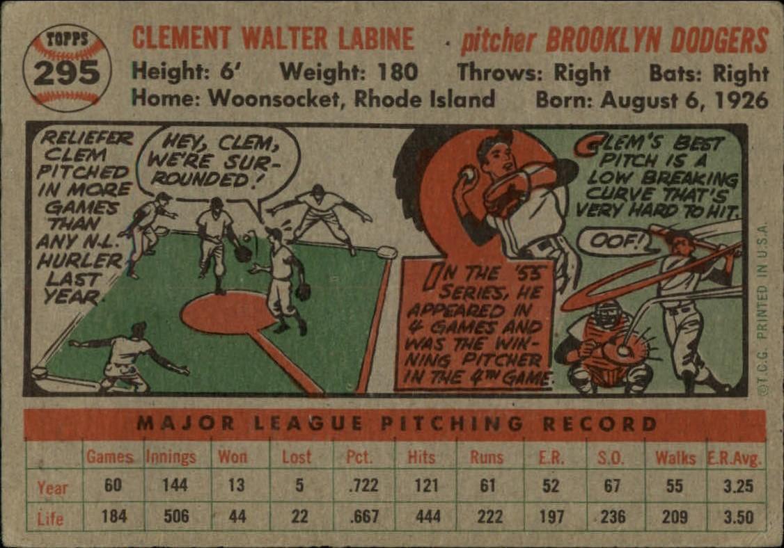 1956-TOPPS-BASEBALL-ASSORTED-SINGLES-U-PICK-242-319 thumbnail 174