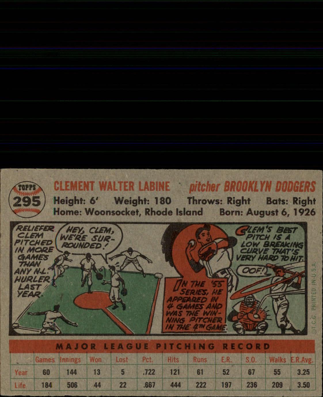 1956-TOPPS-BASEBALL-ASSORTED-SINGLES-U-PICK-242-319 thumbnail 176