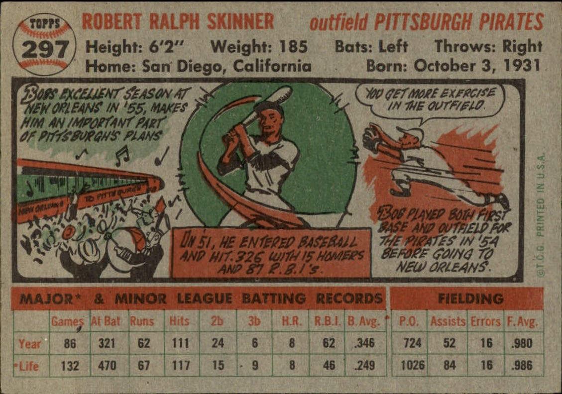 1956-TOPPS-BASEBALL-ASSORTED-SINGLES-U-PICK-242-319 thumbnail 180