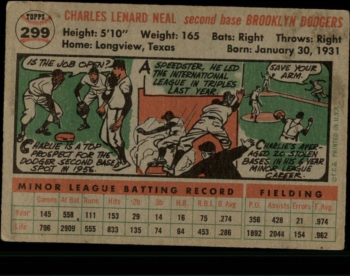 1956-TOPPS-BASEBALL-ASSORTED-SINGLES-U-PICK-242-319 thumbnail 184