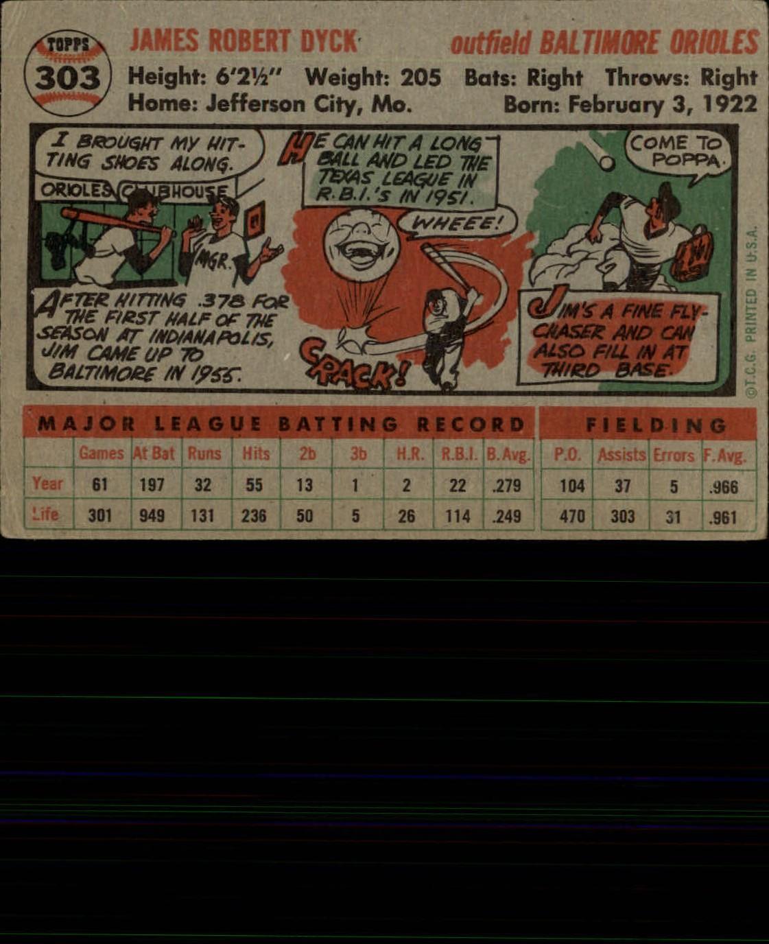 1956-TOPPS-BASEBALL-ASSORTED-SINGLES-U-PICK-242-319 thumbnail 194
