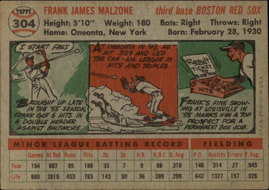 1956-TOPPS-BASEBALL-ASSORTED-SINGLES-U-PICK-242-319 thumbnail 198
