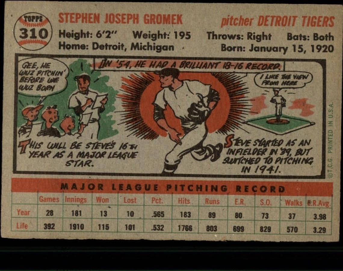 1956-TOPPS-BASEBALL-ASSORTED-SINGLES-U-PICK-242-319 thumbnail 208