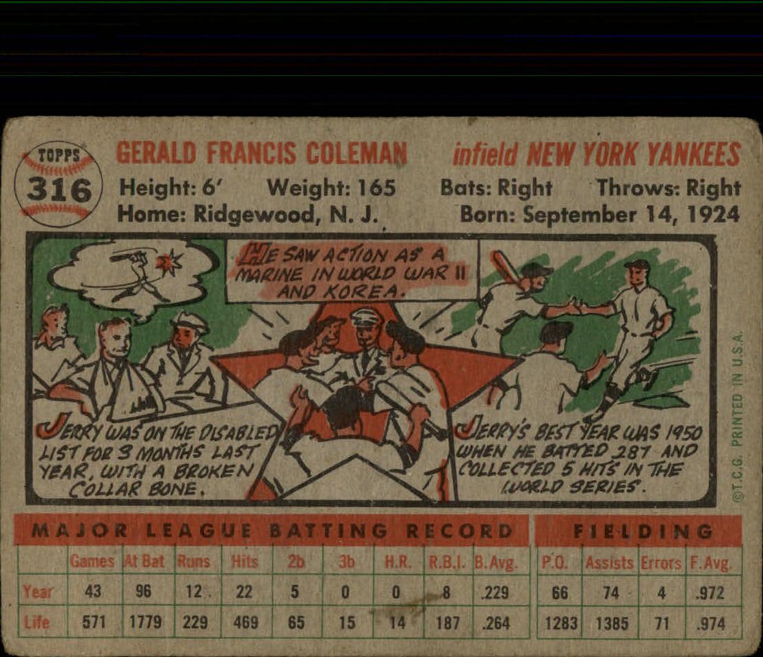 1956-TOPPS-BASEBALL-ASSORTED-SINGLES-U-PICK-242-319 thumbnail 220