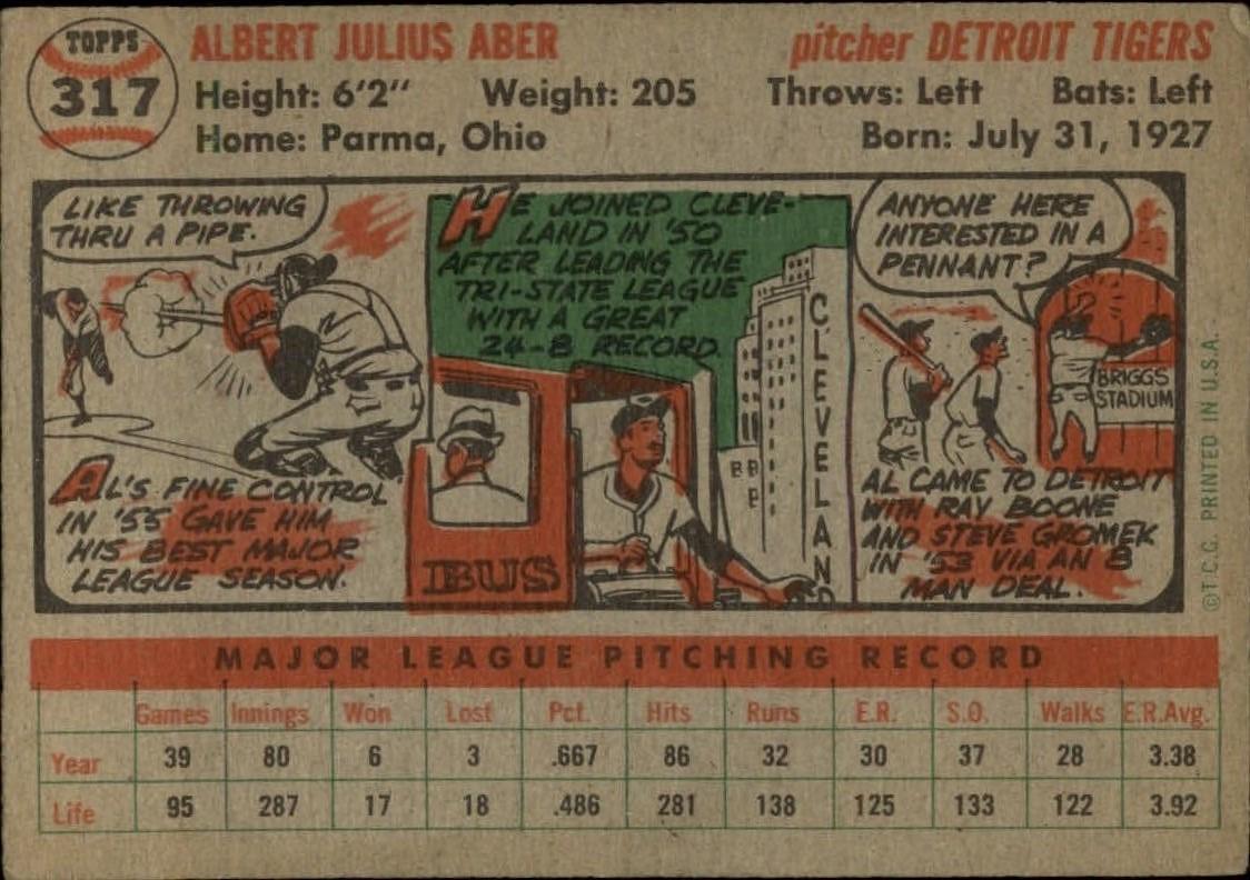 1956-TOPPS-BASEBALL-ASSORTED-SINGLES-U-PICK-242-319 thumbnail 222
