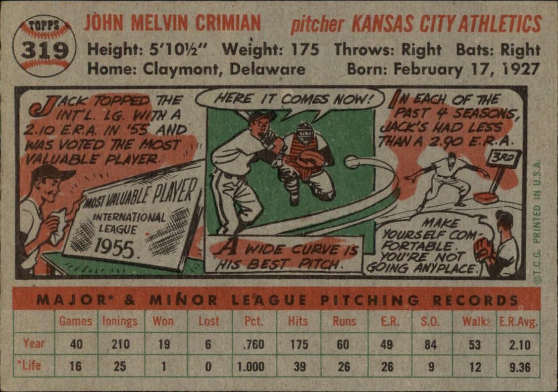 1956-TOPPS-BASEBALL-ASSORTED-SINGLES-U-PICK-242-319 thumbnail 228