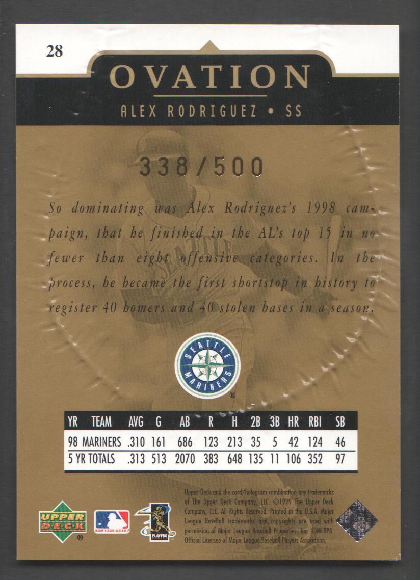 1999-Upper-Deck-Ovation-Baseball-Cards-Pick-From-List thumbnail 147