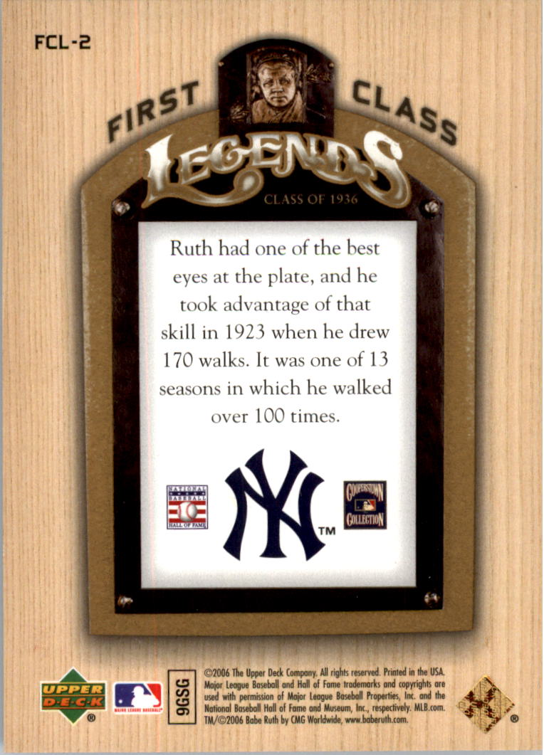2006-Upper-Deck-First-Class-Legends-Gold-Baseball-Card-Pick miniature 3