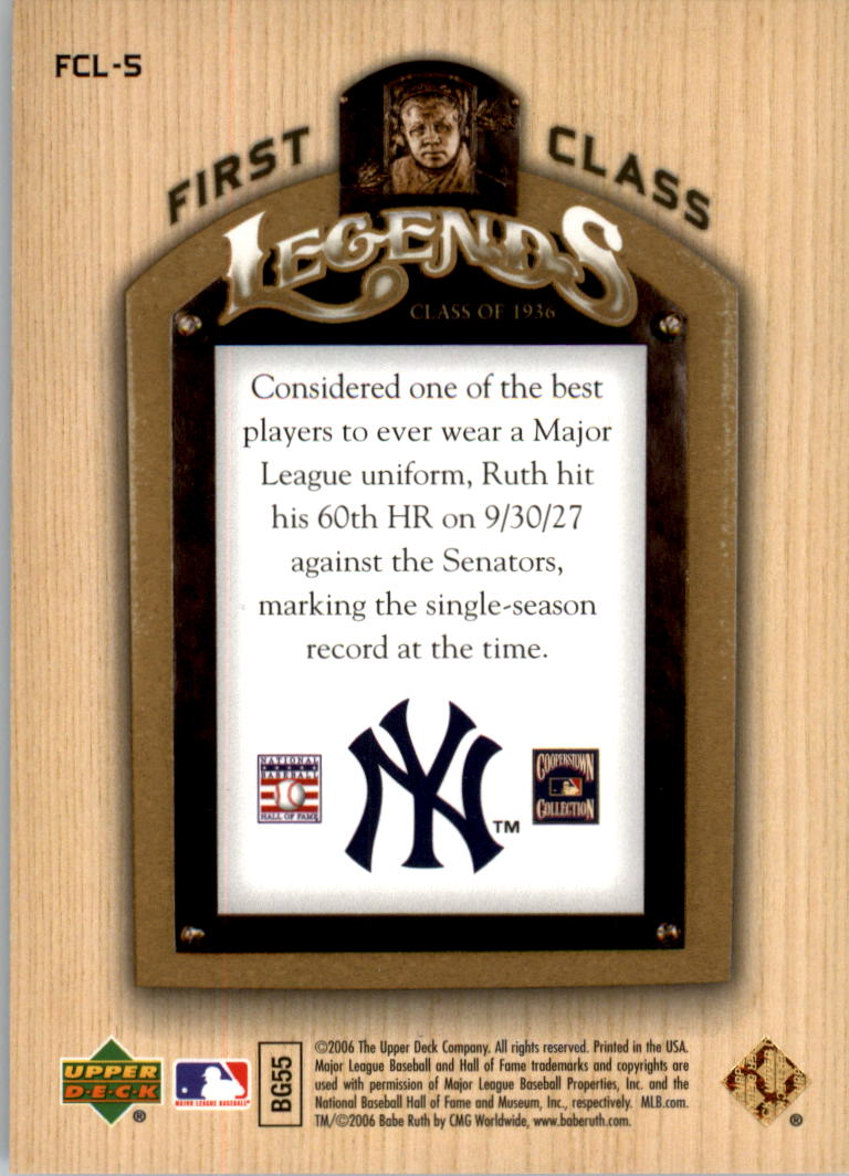 2006-Upper-Deck-First-Class-Legends-Gold-Baseball-Card-Pick miniature 5