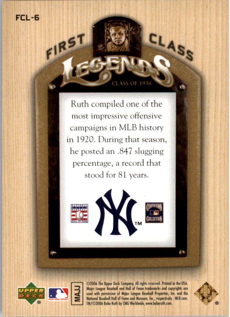 2006-Upper-Deck-First-Class-Legends-Gold-Baseball-Card-Pick miniature 7