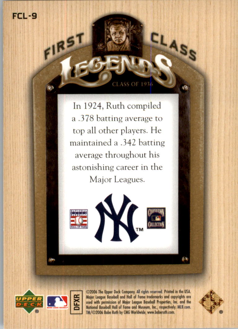 2006-Upper-Deck-First-Class-Legends-Gold-Baseball-Card-Pick miniature 9