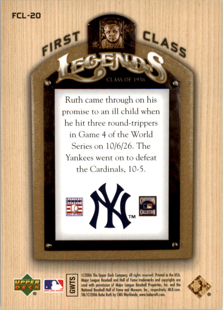 2006-Upper-Deck-First-Class-Legends-Gold-Baseball-Card-Pick miniature 15