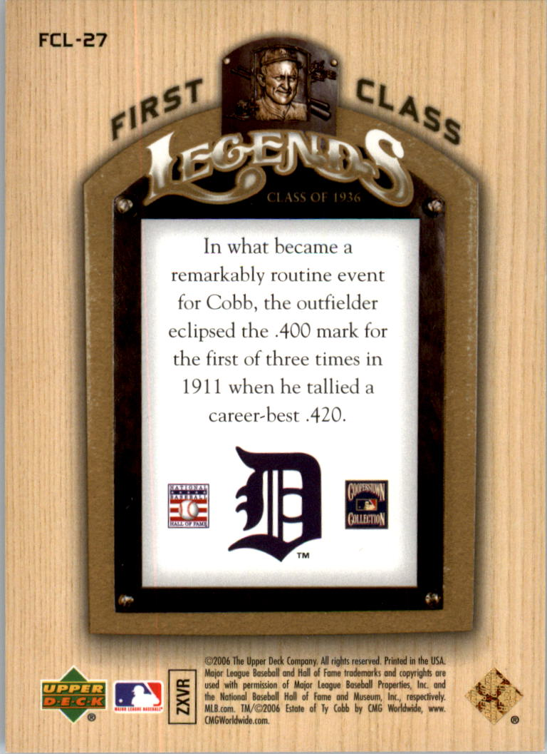 2006-Upper-Deck-First-Class-Legends-Gold-Baseball-Card-Pick miniature 25