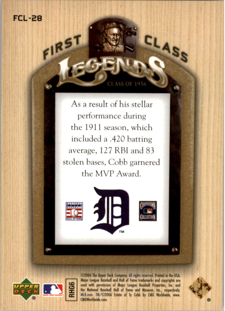 2006-Upper-Deck-First-Class-Legends-Gold-Baseball-Card-Pick miniature 27