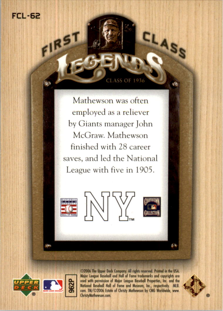 2006-Upper-Deck-First-Class-Legends-Gold-Baseball-Card-Pick miniature 37