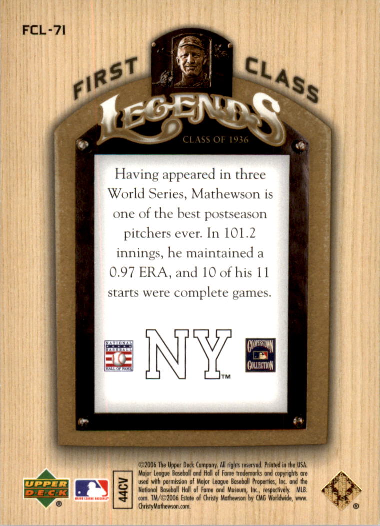 2006-Upper-Deck-First-Class-Legends-Gold-Baseball-Card-Pick miniature 48