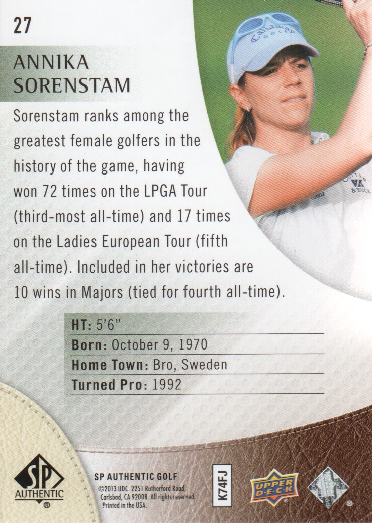 2014-SP-Authentic-Golf-Cards-Pick-From-List miniature 51