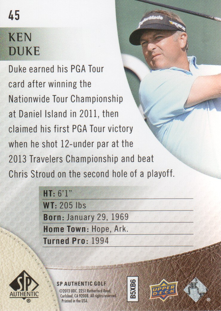 2014-SP-Authentic-Golf-Cards-Pick-From-List miniature 85