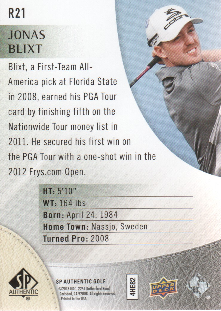 2014-SP-Authentic-Golf-Cards-Pick-From-List miniature 213