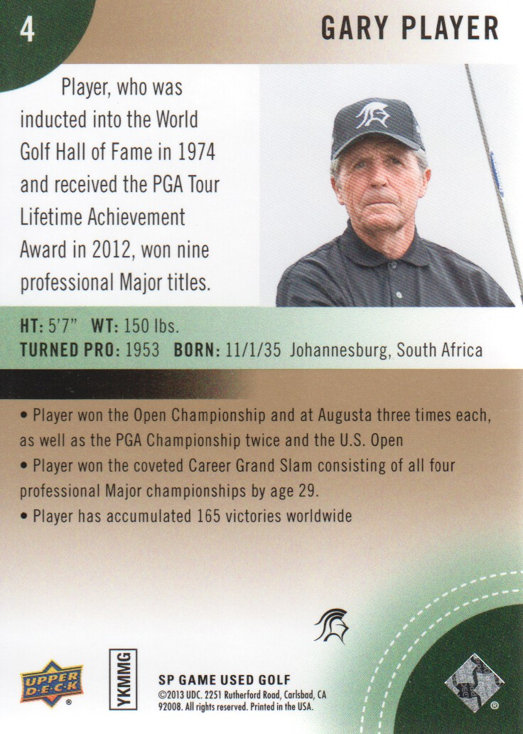 2014-SP-Game-Used-Edition-Golf-Cards-Pick-From-List miniature 7