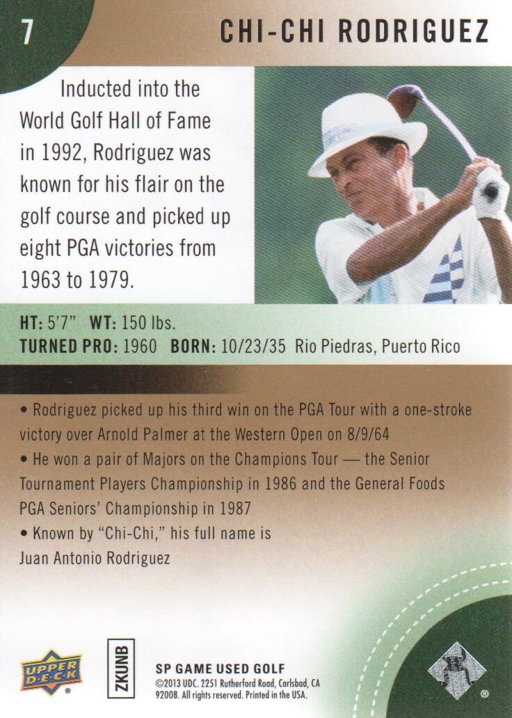 2014-SP-Game-Used-Edition-Golf-Cards-Pick-From-List miniature 13