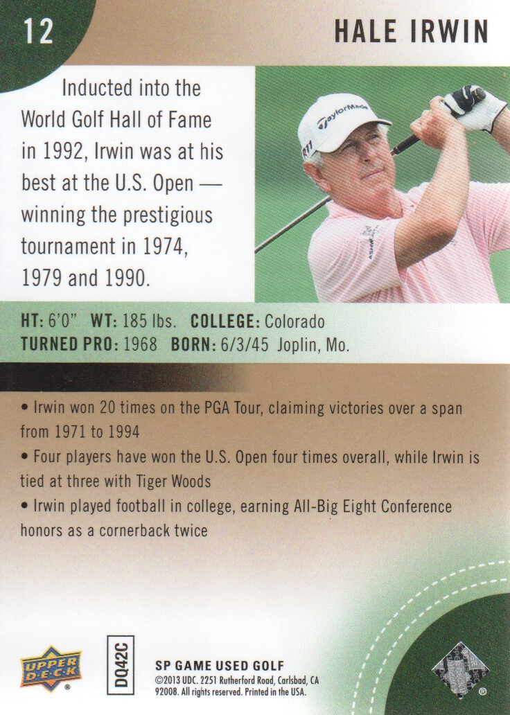 2014-SP-Game-Used-Edition-Golf-Cards-Pick-From-List miniature 23