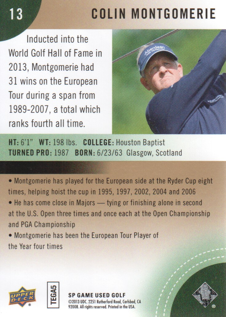 2014-SP-Game-Used-Edition-Golf-Cards-Pick-From-List miniature 25
