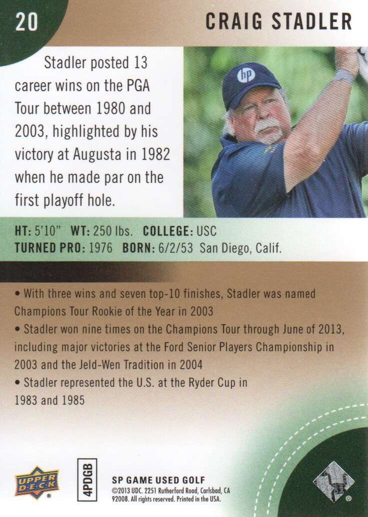 2014-SP-Game-Used-Edition-Golf-Cards-Pick-From-List miniature 39