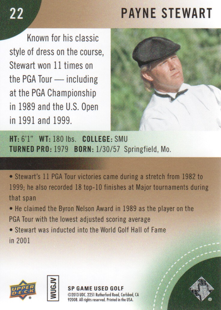 2014-SP-Game-Used-Edition-Golf-Cards-Pick-From-List miniature 43