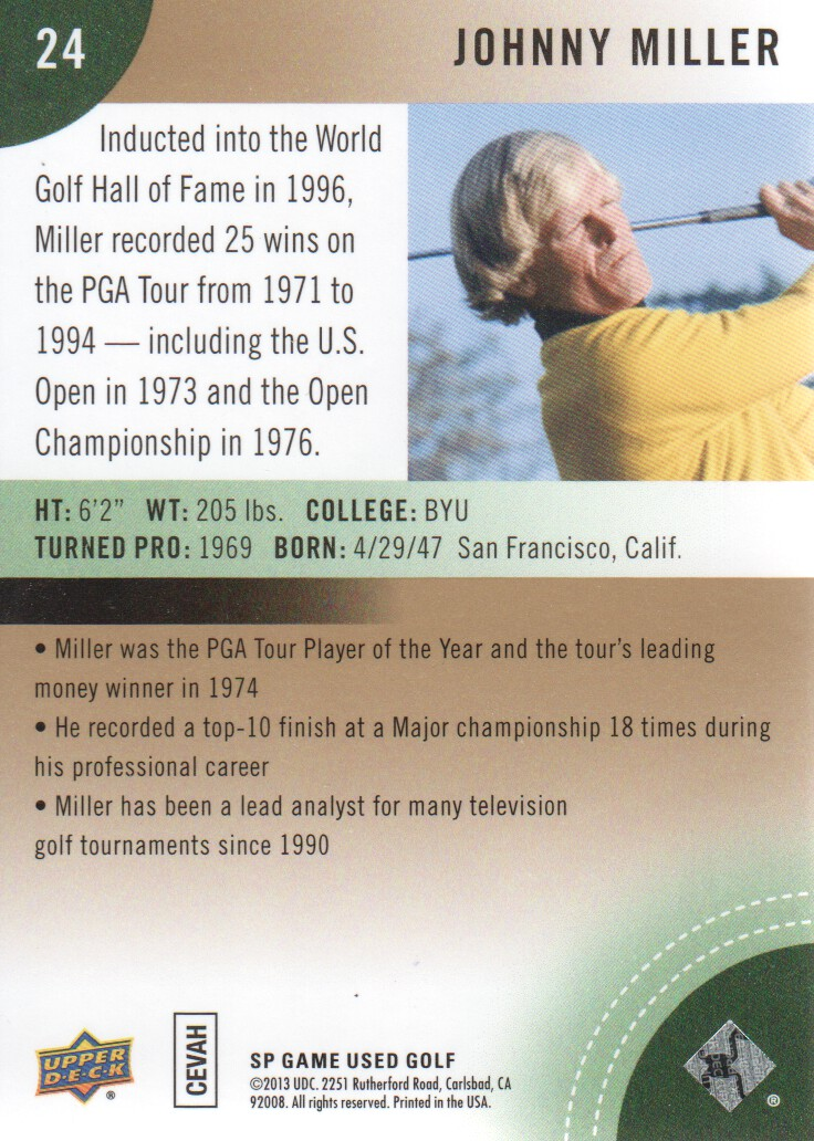 2014-SP-Game-Used-Edition-Golf-Cards-Pick-From-List miniature 45