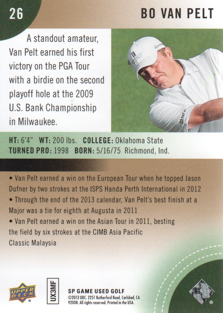 2014-SP-Game-Used-Edition-Golf-Cards-Pick-From-List miniature 49