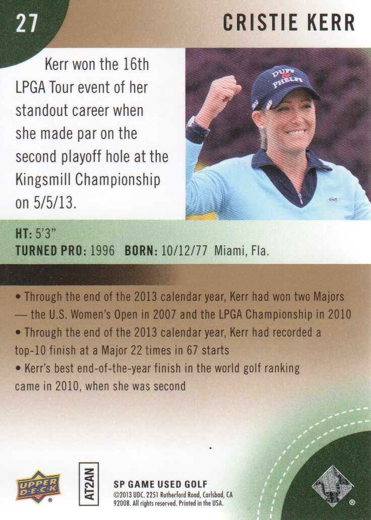 2014-SP-Game-Used-Edition-Golf-Cards-Pick-From-List miniature 51