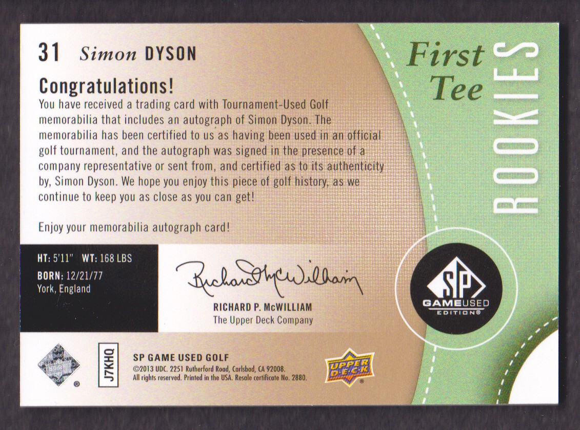 2014-SP-Game-Used-Edition-Golf-Cards-Pick-From-List miniature 57