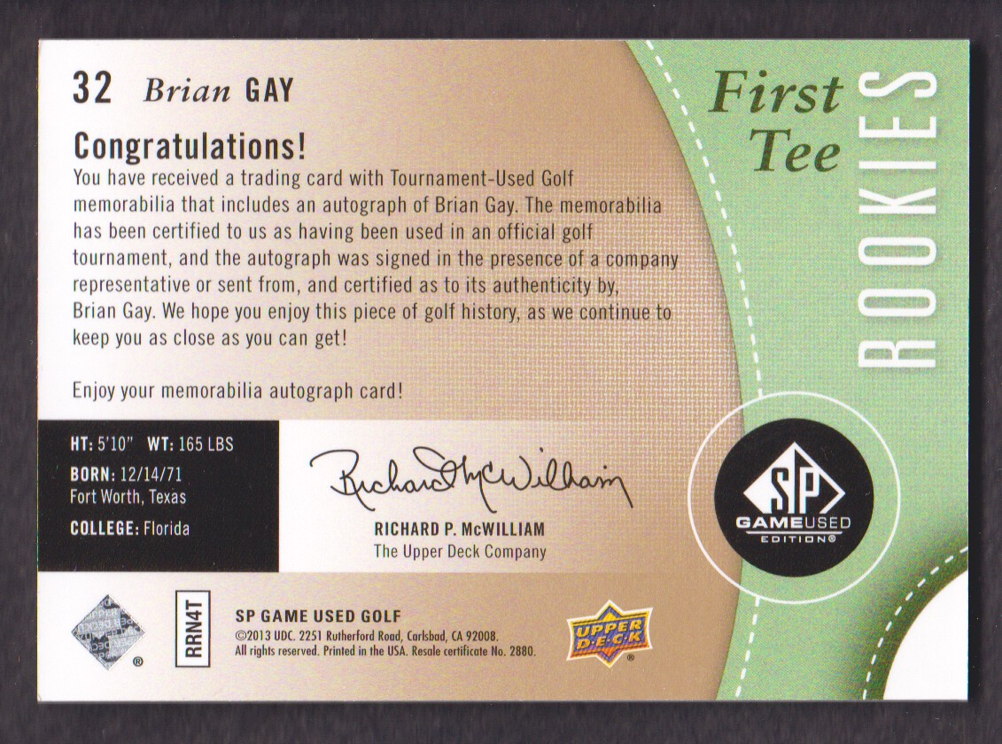 2014-SP-Game-Used-Edition-Golf-Cards-Pick-From-List miniature 59