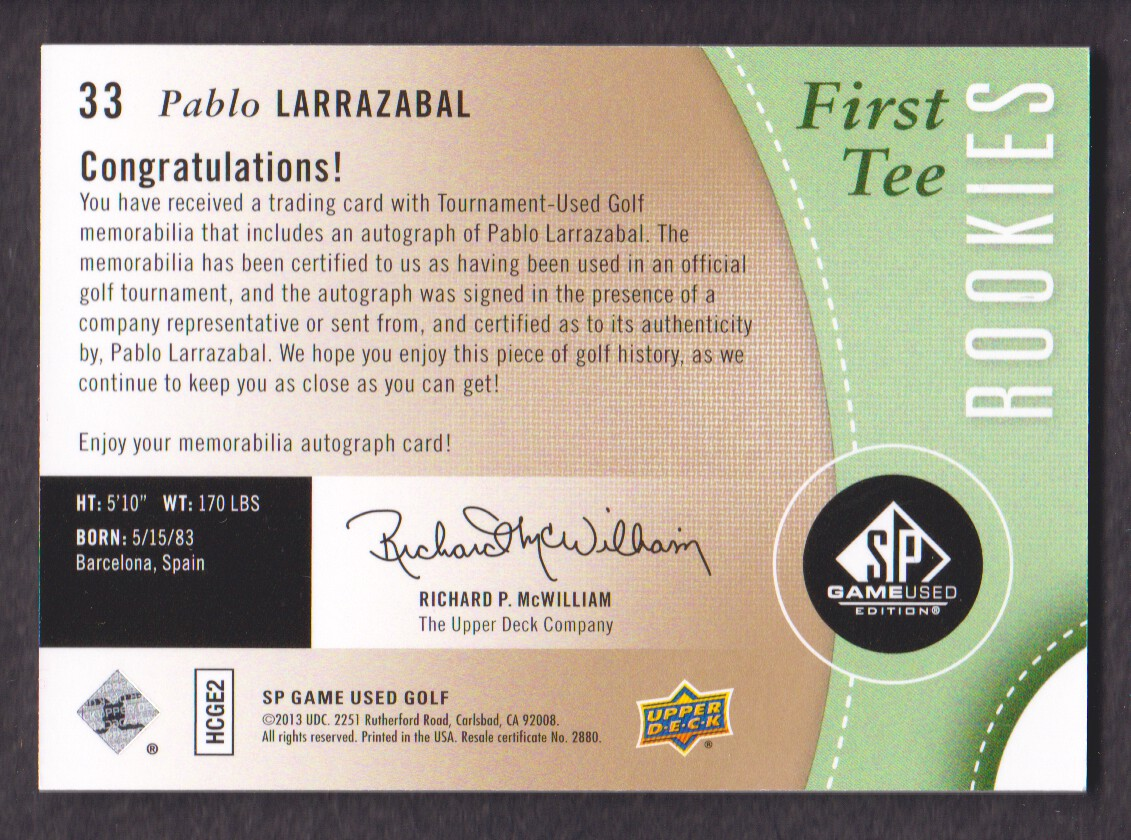 2014-SP-Game-Used-Edition-Golf-Cards-Pick-From-List miniature 61