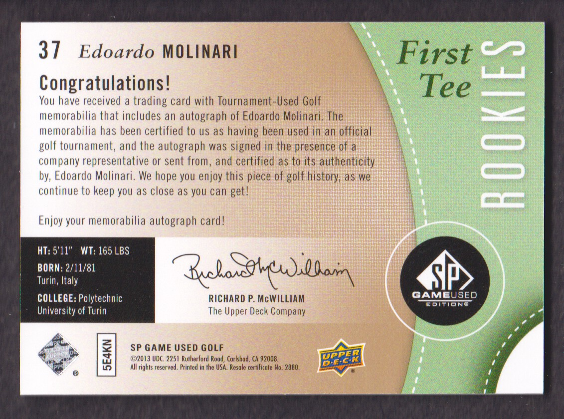 2014-SP-Game-Used-Edition-Golf-Cards-Pick-From-List miniature 65