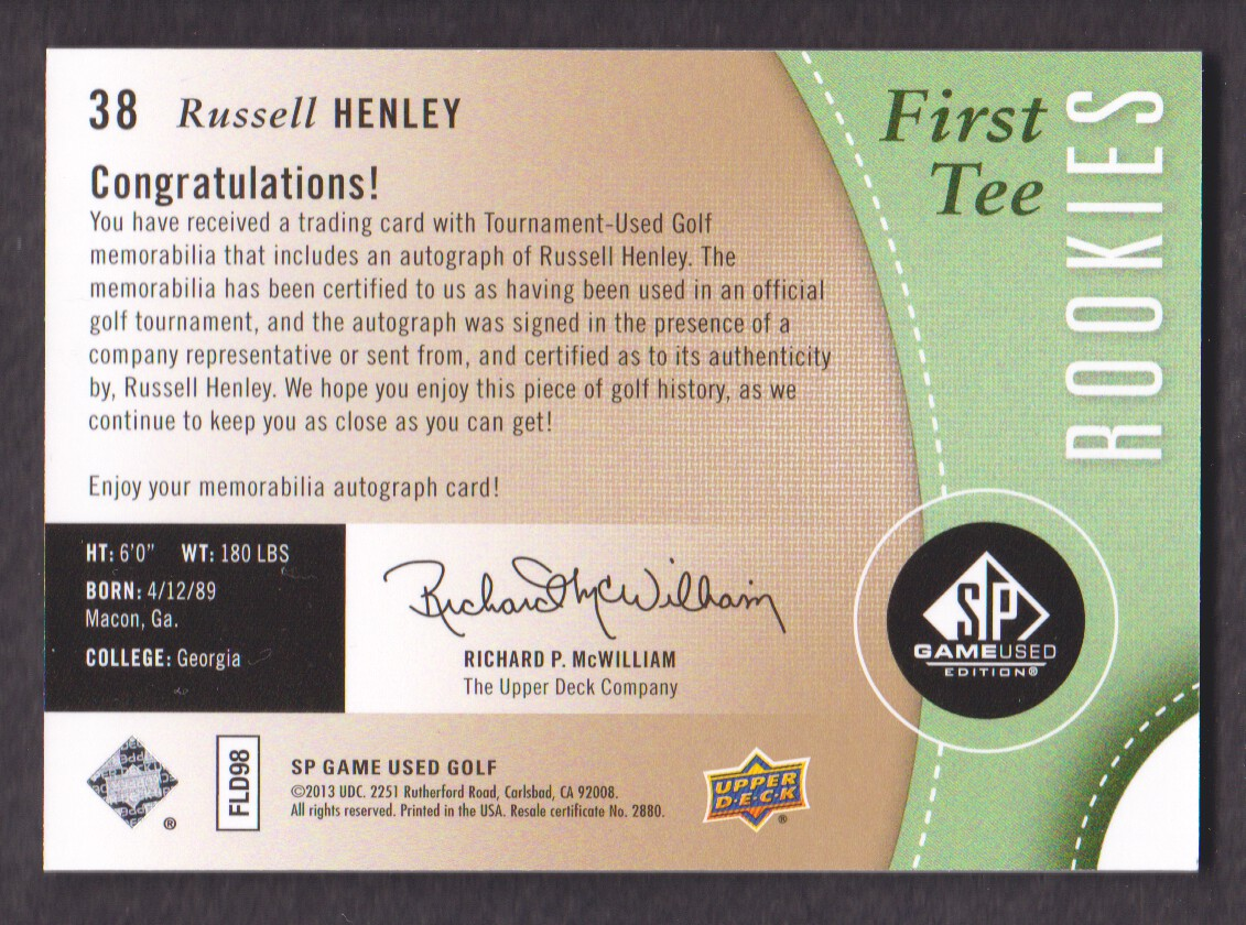 2014-SP-Game-Used-Edition-Golf-Cards-Pick-From-List miniature 67