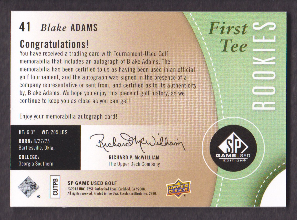 2014-SP-Game-Used-Edition-Golf-Cards-Pick-From-List miniature 69