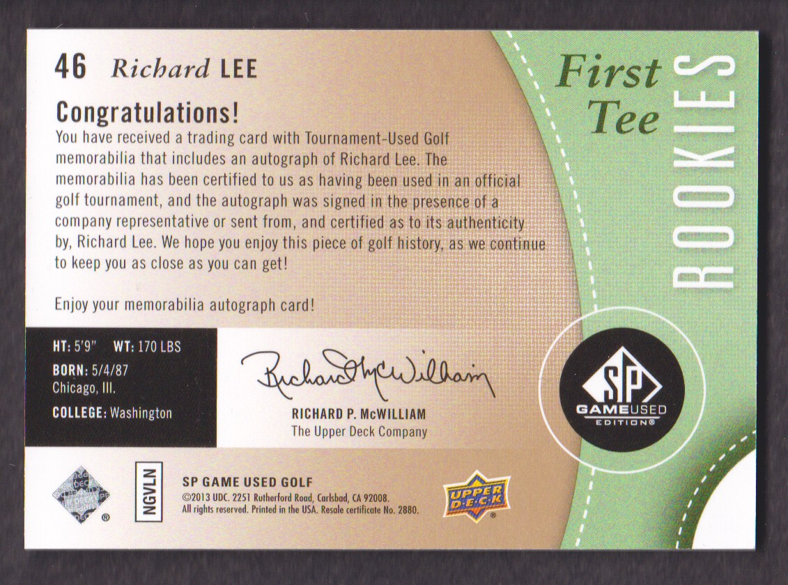 2014-SP-Game-Used-Edition-Golf-Cards-Pick-From-List miniature 75